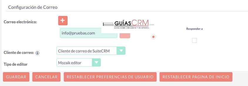 Cómo añadir un nuevo usuario a SuiteCRM
