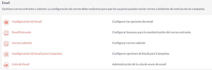 Cómo configurar el envío de emails para las campañas en SuiteCRM