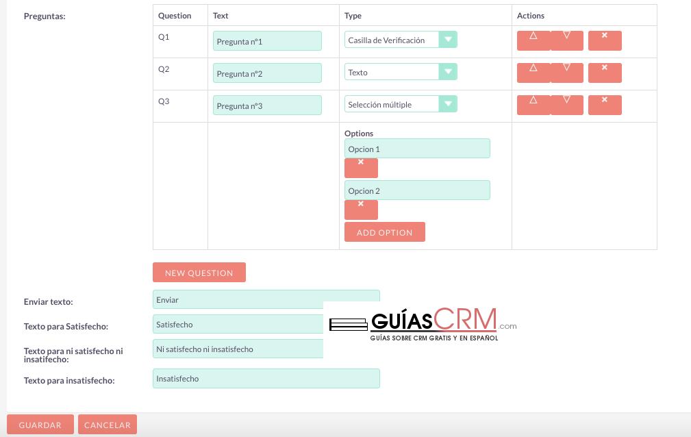 Cómo crear una encuesta en SuiteCRM
