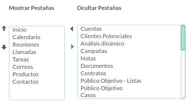 Cómo organizar los módulos del menú de SuiteCRM