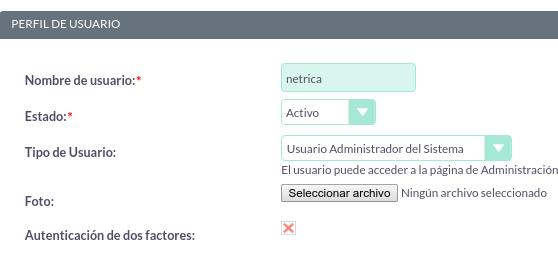 Cómo añadir doble autenticación para un usuario en SuiteCRM