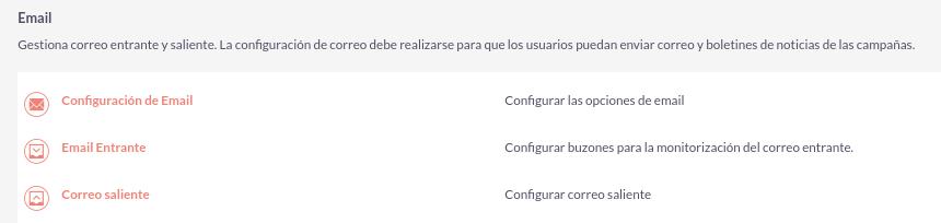 Cómo configurar las opciones de email saliente en SuitCRM